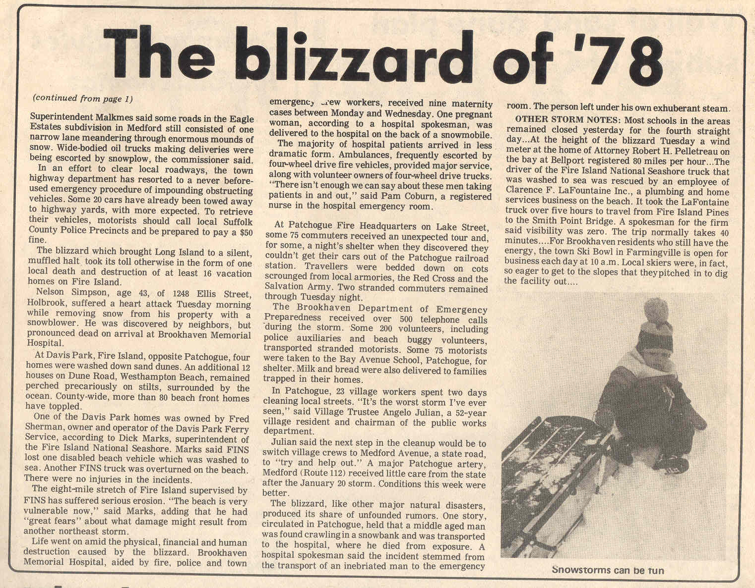 The Great Blizzard Of 1978 Foisinthecity
