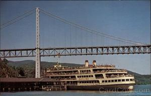 Hudson River Dayliner at Bear Mountain Dock New York